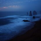 The Twelve Apostles, Dusk, Great Ocean Road, Australia by Michael Boniwell