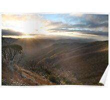 Last of the light, Mt Hotham, Australia Poster