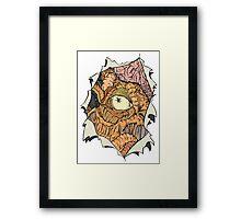 The Dalek inside Me Framed Print