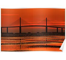 Sunshine Skyway Bridge Sunrise Poster
