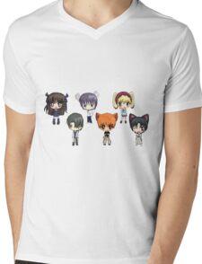 Fruits Basket Chibi Anime Mens V-Neck T-Shirt