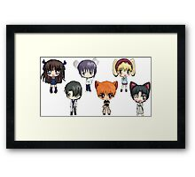 Fruits Basket Chibi Anime Framed Print