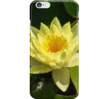 Soft Sunny Yellow - A Waterlily Impression iPhone Case/Skin