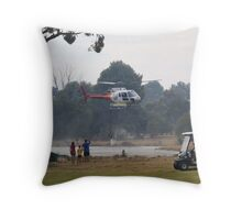 Even golfers stop for a look Throw Pillow