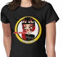Red Rocket Derby Doll Womens Fitted T-Shirt
