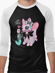 Tattooed Kitty Men's Baseball ¾ T-Shirt