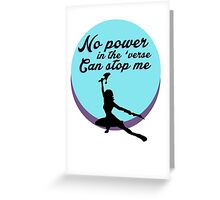 No Power In The Verse Greeting Card