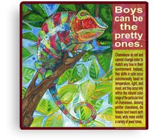 Up on the catwalk (Panther chameleon) Canvas Print