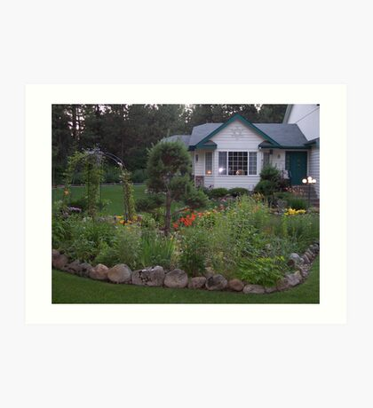 This is the garden and house that you want to come home too... Art Print
