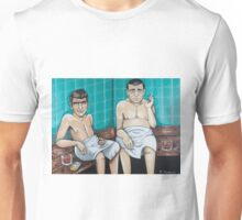 Rod Serling and Jack Webb in the Sauna Unisex T-Shirt