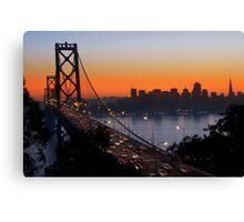 Sunset Over San Francisco Canvas Print