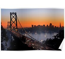 Sunset Over San Francisco Poster