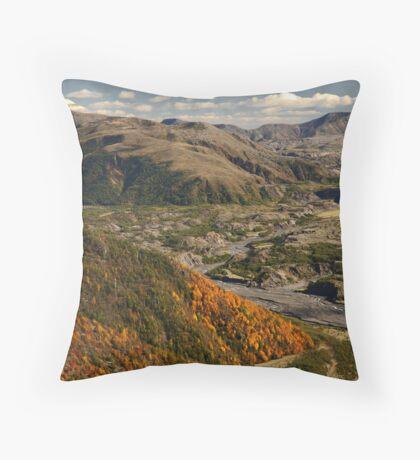 Mount St Helens Landscape Throw Pillow