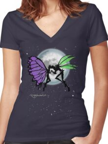 Butterfly Bog Women's Fitted V-Neck T-Shirt