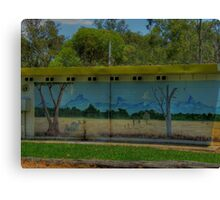 Mural - Lyons Club Park Gulargambone Canvas Print