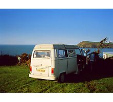 Camping in Wales Photographic Print
