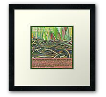 Love-in (Red-sided garter snake) Framed Print