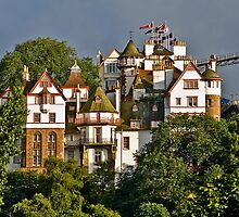 Ramsay Gardens, Edinburgh, Scotland by Max Blinkhorn