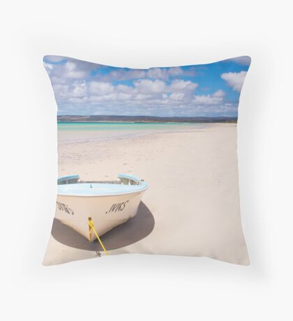 Pure Bliss on Island Beach, Kangaroo Island Throw Pillow