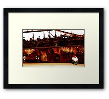 I still live by the wreck of us Framed Print