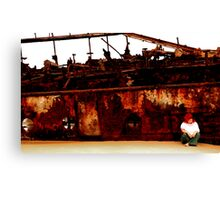 I still live by the wreck of us Canvas Print
