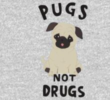 //pugs not drugs// One Piece - Short Sleeve