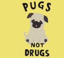 //pugs not drugs// Kids Tee