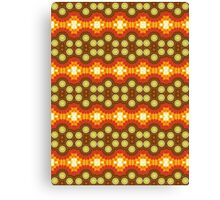 Red, Orange and Brown Abstract Design Pattern Canvas Print