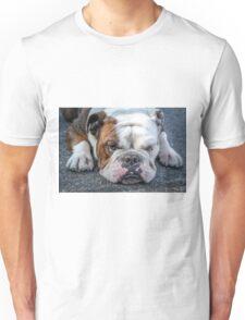 Tired Bulldog Unisex T-Shirt