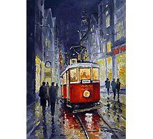 Prague Old Tram 06 Photographic Print