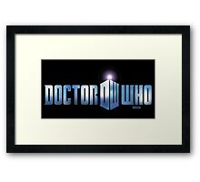 Doctor Who logo Framed Print