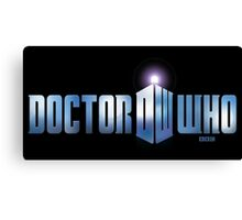 Doctor Who logo Canvas Print