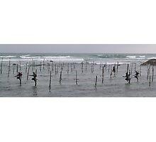 Stick Fishermen Photographic Print