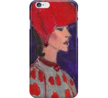 Red Hat Woman No #2 1940's iPhone Case/Skin