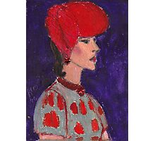 Red Hat Woman No #2 1940's Photographic Print