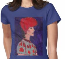 Red Hat Woman No #2 1940's Womens Fitted T-Shirt