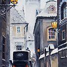 Prague Old Street 02 by Yuriy Shevchuk
