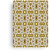 Green, Brown and Gold Abstract Design Pattern Canvas Print