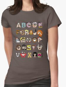 Child of the 00s Alphabet Womens Fitted T-Shirt