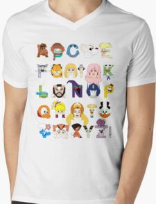 Child of the 80s Alphabet Mens V-Neck T-Shirt