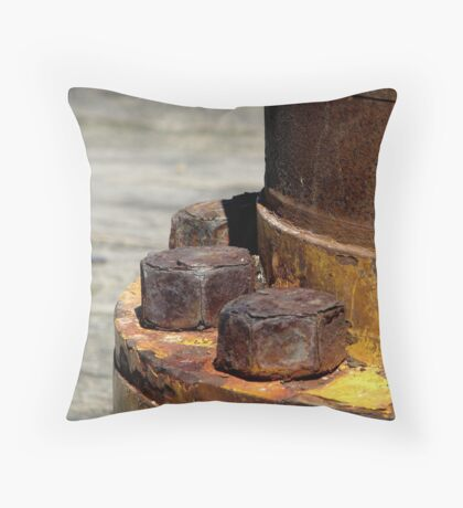 Rusty Nuts Throw Pillow