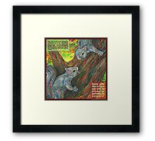 Ladylike behavior (Gray squirrel) Framed Print