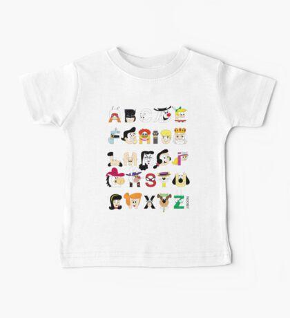 Child of the 60s Alphabet Baby Tee