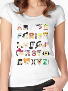 Child of the 60s Alphabet Women's Fitted Scoop T-Shirt