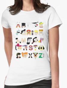 Child of the 60s Alphabet Womens Fitted T-Shirt