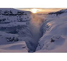 Gullfoss, Sudurland, Iceland Photographic Print