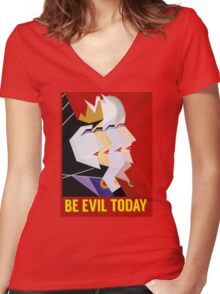 Be Evil Today Women's Fitted V-Neck T-Shirt