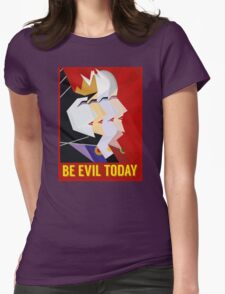 Be Evil Today Womens Fitted T-Shirt