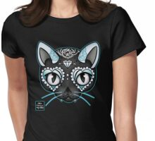 Day of the Kitty BLUE Womens Fitted T-Shirt