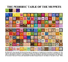 Periodic Table of the Muppets Photographic Print